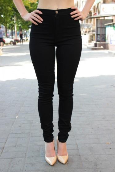 1041ee14f26 Черные джинсы с завышенной талией   HSX